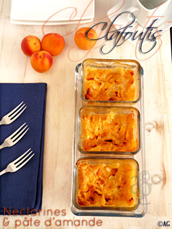 Clafoutis aux nectarines & pâte d'amande