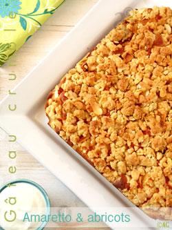 Gâteau crumble au mascarpone, Amaretto & abricots