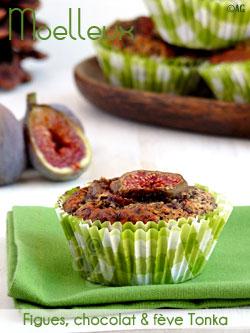 Moelleux aux figues, chocolat noir & fève Tonka