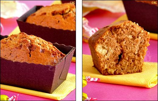 cake aux carambars et chocolat blanc
