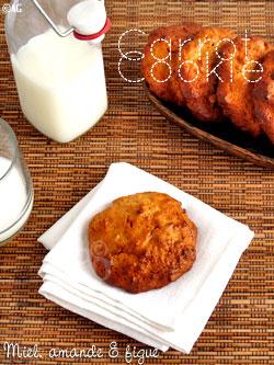 Carrot cookies au miel, amandes & figues sèches