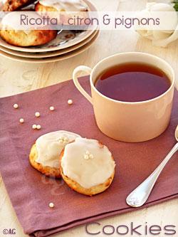 Cookies à la ricotta, citron & pignons