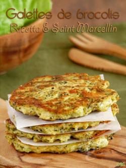 Galettes de brocolis rissolés, ricotta & Saint Marcellin