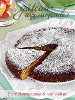 Gâteau aux amandes, pamplemousse rose & verveine