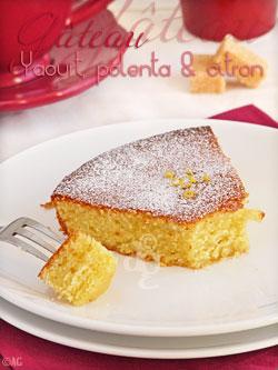 Gâteau au yaourt de brebis, polenta & citron de Sicile