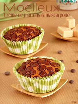 Moelleux à la crème de marrons & mascarpone