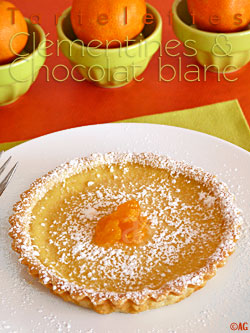 Tartelettes au chocolat blanc & clémentine