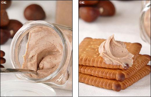 marrons et chocolat blanc