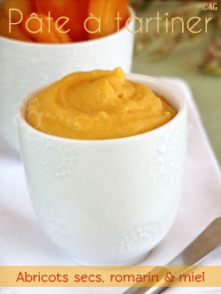 Pâte à tartiner aux abricots secs