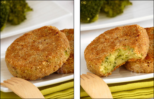 croquettes de pommes de terre et brocolis