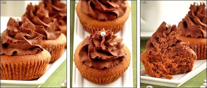 cupcakes au chocolat et chataigne