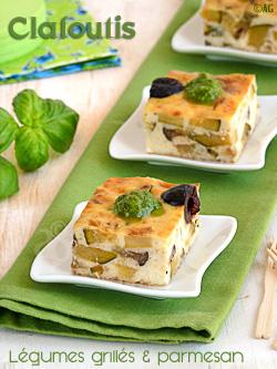 Clafoutis aux légumes grillés & parmesan