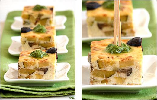 clafoutis aux legumes et parmesan