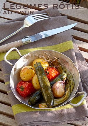 Légumes rôtis au four (courgettes, tomates, pommes de terre, cébettes …) – Méthode de cuisson –