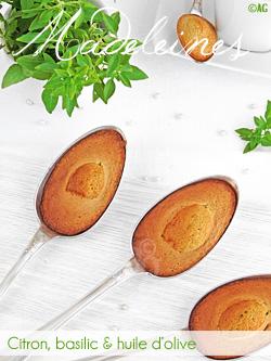 Madeleines au citron, basilic & huile d'olive