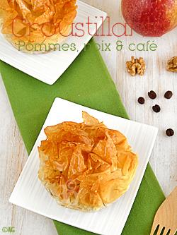 Croustillants aux pommes, noix & café