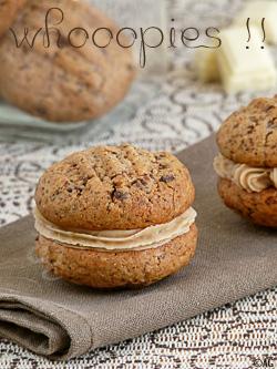 Whoopies aux chocolats & crème de marrons