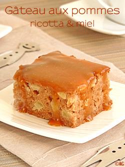 Gâteau aux pommes, ricotta & miel