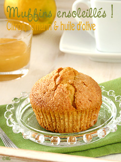 Muffins au citron, romarin & huile d'olive