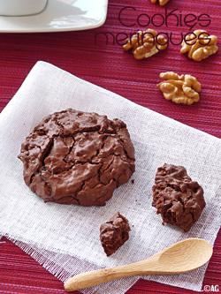 Cookies meringués au chocolat & noix