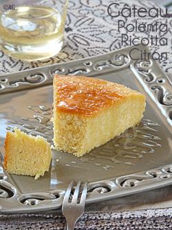Gâteau à la ricotta, polenta & citron