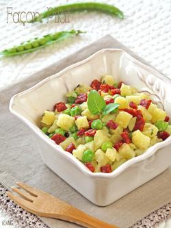 Pommes de terre nouvelles & petits pois frais façon pilaf