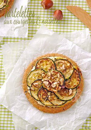 Tartelettes aux courgettes & noisettes