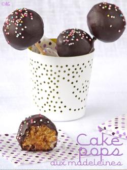 Cake pops aux madeleines
