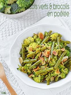 haricot et brocoli en poelee