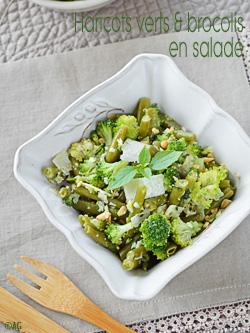 Haricots verts & brocolis : en salade au parmesan & pignons ou en poêlée au curry & amandes