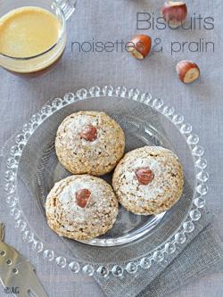 Biscuits aux noisettes & pralin façon amaretti