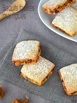 Biscuits fourrés aux figues sèches & amandes