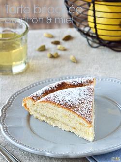 Tarte briochée au citron & miel
