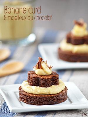 Banane curd & moelleux au chocolat au lait