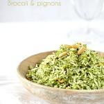 riz pilaf au brocoli et pignons