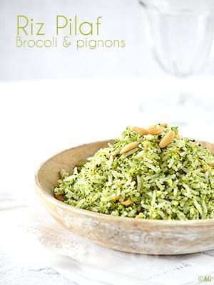 Riz Pilaf au brocoli & pignons