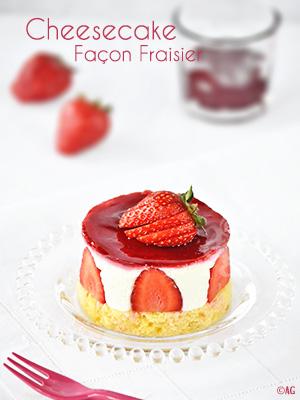 Mini cheesecake façon fraisier (sans cuisson)