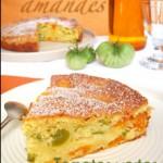 Gâteau moelleux aux tomates vertes, amandes & abricots