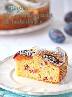 Gâteau aux prunes, yaourt & huile d'olive