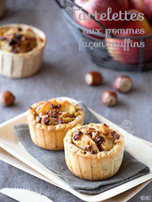 Tartelettes aux pommes comme des muffins