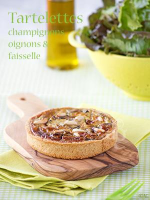 Tartelettes aux champignons, oignons & faisselle de brebis - Idées de tartes salées