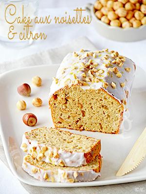 Cake aux noisettes & citron