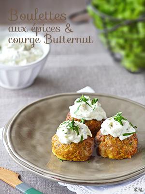 Boulettes de viande aux épices & courge Butternut