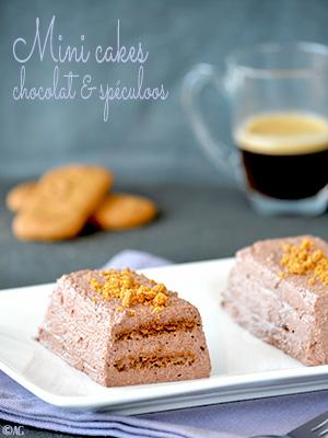 Mini cakes au chocolat & spéculoos sans cuisson