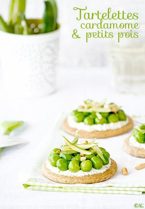 Tartelettes à la cardamome & petits pois - Alter Gusto pour Yummy Magazine