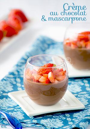 Crème au chocolat & mascarpone façon panna cotta