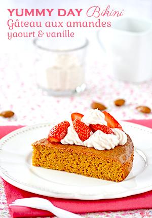 Yummy day bikini – Gâteau aux amandes, yaourt & vanille
