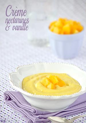 Crème aux nectarines & vanille