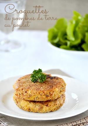 Croquettes de pommes de terre au poulet – Cuisiner les restes de poulet