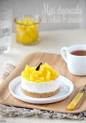 Mini cheesecake à la vanille de Tahiti & ananas